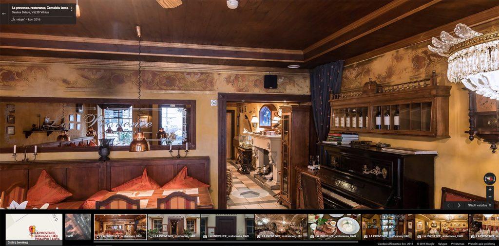 Google Street View Verslui - restoranai ir barai