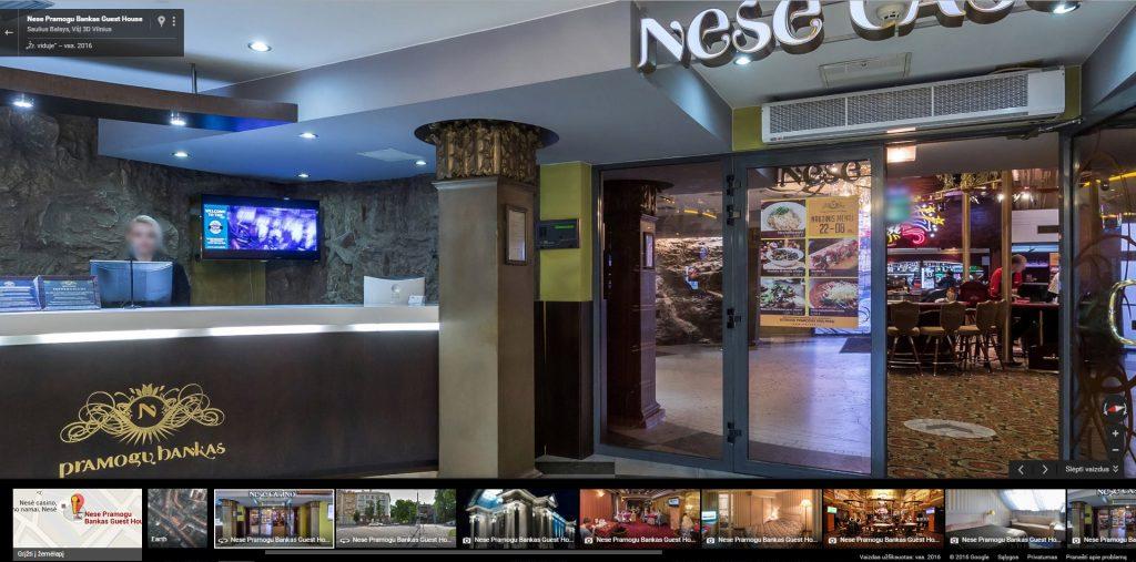 Google Street View Verslui - naktiniai klubai ir lošimo namai