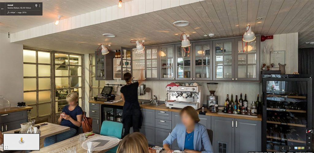 Google Street View Verslo Panorama restorane Monai
