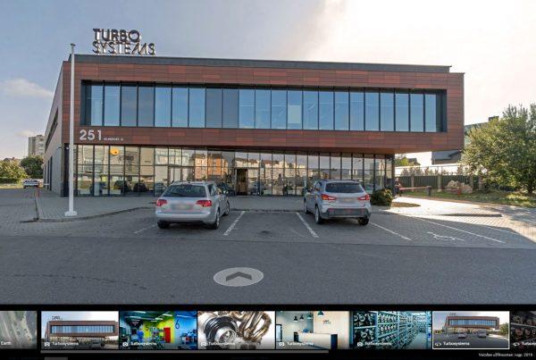 serviso centras Turbo Systems google street view virtualus 3d turas